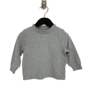 Kids Korner- Gray Long Sleeve Mock Tee Size 18 Mo